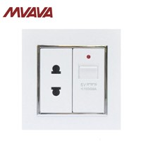 MVAVA Multifunctional Wall Socket with 5V USB Plug & 2 Pin