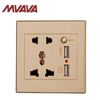 MVAVA Smart USB Wall Socket for Restaurant & Cafe Pubs with Universal Power Adapter Wall Outlet Panel