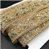 2017 New Element Rhinestone Trimming Hot Fix Beads Rhinestone Chain for Garment Accessories (TP-20mm Gold)