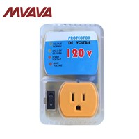 MVAVA 20A US Standard Socket Yellow PC Panel Home Appliance Surge Protector Voltage Socket US Plug