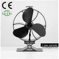 Silent Heat Powered Stove Top Environmentally Friendly Fan for Wood Coal Or Pellet Burning Stoves, Black