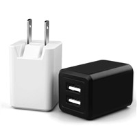 5V 2.1A Folding US Plug Dual USB Port Universal USB Wall Charger for Mobile Phone
