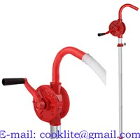 JS-32 Cast Iron Rotary Drum Pump Hand Oil Transfer Pump