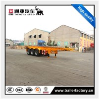 China Good Price Best Selling 40ft Container Chassis Semi Trailer with Twist Loocks