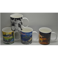 Fine China 11oz Classic Coffee Mug Size Dia8.5 Height 9cm Ideal for Promotion