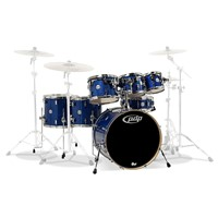 7-Piece Concept Maple Shell Pack with Chrome Hardware Blue Sparkle Drum Set