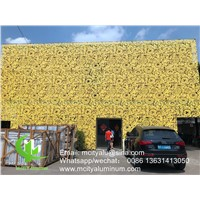 Aluminum Cladding Panel for Facade with Decorative Perforated Pattern Laser Cutting Sheet Carved Screen