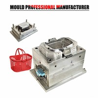 2017 New Products Plastic Injection Mould Supermarket Basket Mould Maker