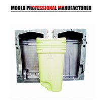 Plastic Blow Mould Trash Can Blow Mould Made in China