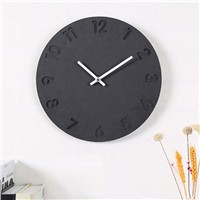 Creative Round Shape Home Decorative Wood Wall Clock