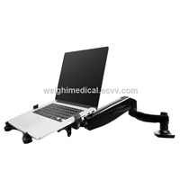 Laptop Monitor Arm with Desk Clamp Or Grommet Installation