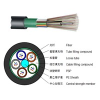 Layer Light-Type Armored Outdoor Cable Anti-Termite Steel Cable GYTS-24 Core Single-Mode Warranty for 30 Years