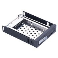Unestech 2.5in Sata Aluminum Hard Drive Case Internal Enclosure Hot Swap HDD Mobile Rack