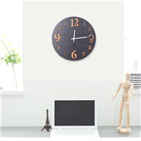 Creative Round Shape Retro Style Double Color Wood Wall Clock