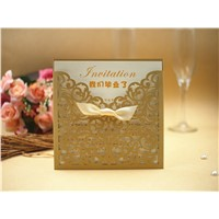 Printed Laser Cut Wedding Invitations Cards for Birthday/Party/Wedding/Noble Invitation Cards(Color Could Be Customized)