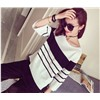 Lady Stripes Knitted Pullover Manufacturer