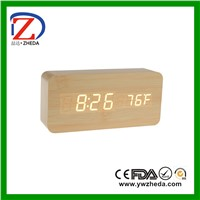 ZD-G003B Colorful LED Voice Control Date Table Clock