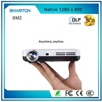 2017 Outdoor High Lumens Pocket Projector Automatic Keystone Correction 3D Mini Projector with Glass Touch Panel
