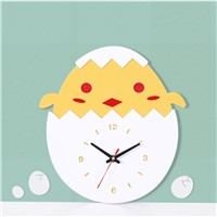 Creative Hatching Chick Cartoon Acrylic Wall Quiet Clock