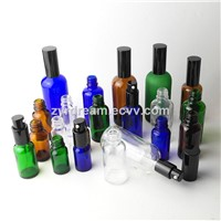 Clear, Amber, Blue, Green Essential Oil Bottles