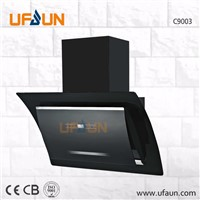 900mm Tempered Glass Automatic Range Hood/Aluminum Filter Chimney