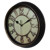European Style Living Room Home Decoration Wall Plastic Clock