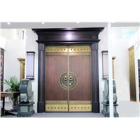 the New Chinese Style of Copper Door with Wood by Different Style of In & Out