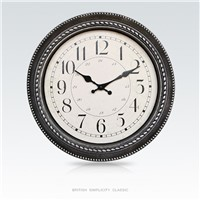 16 Inch European Style Home Decorative Plastic Wall Clock