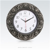 Creative European Classic Style Carving Lace Wall Clock