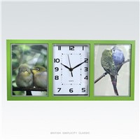 Creative Rectangle Photo Frame Simplicity Quiet Movement Wall Clock