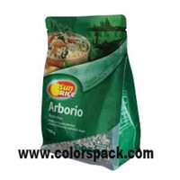 Rice Packaging Flat Bottom Zipper Bag