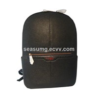 Wholesale Fashion Men Split Ball Cow Leather School Backpack Bag
