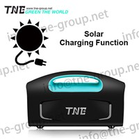 TNE Portable Solar Online Generator Power Bank UPS System with Crocodile Clip, AC Charging Cable, Solar Charging Panel