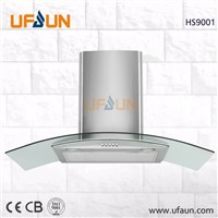 New T Shape Slim SS Range Hood Vent Push Button Control