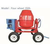400L 4 Wheels Mini Drum Portable Cement Mixer Movable Concrete Mixer