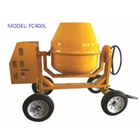 350L 4 Wheels Mini Drum Movable Concrete Batch Mixer with Diesel Engine Portable Mortar Mixer