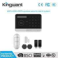 WiFi GSM PSTN Triple Network Wireless Home Security Alarm System with App Control