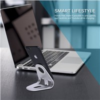 Desktop Cell Phone Stand Tablet Stand, Advanced 4mm Thickness Aluminum Stand Holder for Mobile Phone & Tablet