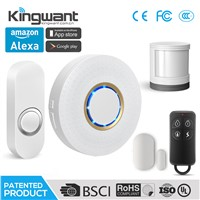 Wireless WiFi Cloud Home Alarm Kit with Doorbell Chime Function