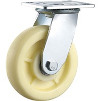 Heavy Duty Caster Wheel Swivel PP Plastic Double Ball Bearing Handling Equipment Wheels