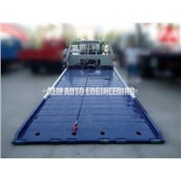 Low Angle Full Land Car Carrier Flatbed Wrecker for Low Chassis Cars
