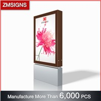 ZM-203 Outdoor Aluminum Profile Scrolling Advertising Mupi Light Box ZMsigns