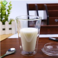 300ml China Manufacturer Double Wall Glass Coffee Cup High Borosilicate Water Tea Milk Mug Drinking Glass Cup