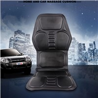 HFR-858-1F DC12V Adaptor Car Plug Home & Car Massage Cushion Pad with Vibrating Heat Function