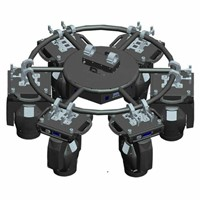 Auto Revolving Factory 1 Channel Mini Rotating Circle Truss for Stage Light