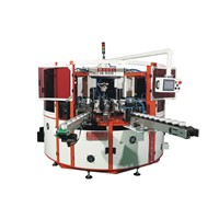 3 Color Automatic UV Screen Printing Machine with Rotary Table