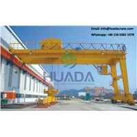 MHB Shape Small Warehouse Electric Hoist Semi Gantry Crane