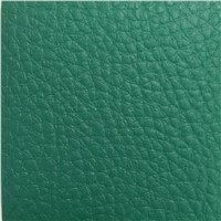 Green Color 4.5mm Indoor Badminton Courts Use Litchi PVC Sports Flooring