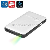 Quad Core RK3128 1GB+8GB Android 4.4.2 Smart DLP Mini Projector with 2.4G/5.0G WiFi, Bluetooth4.0, HDMI1.4