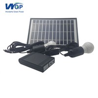 Manufacturer Direct Selling Mini Solar Home Kit with USB Cable